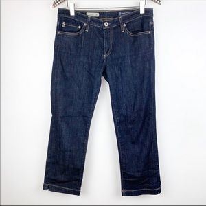 AG Jeans The Crop Capris Dark Wash 29 Casual